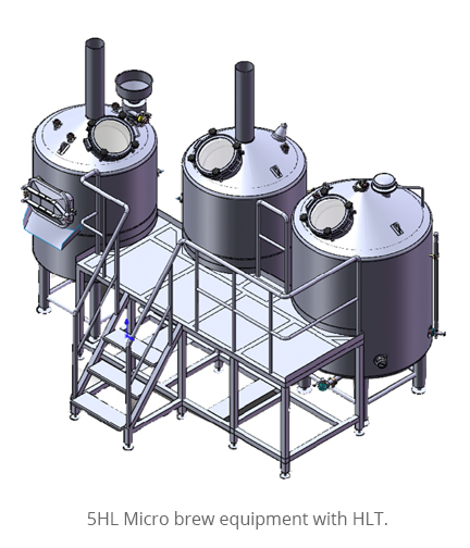 5HL Micro brew equipment with HLT.