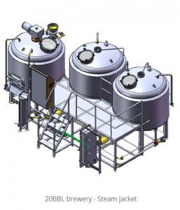 20BBL brewery - Steam jacket